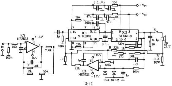 stk3048    stk6153 power amplifier information